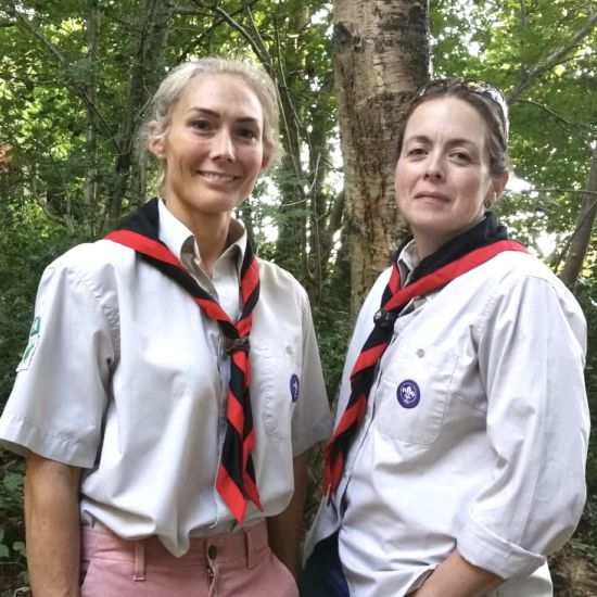 Grayshott Cub Leaders Steph and Alice