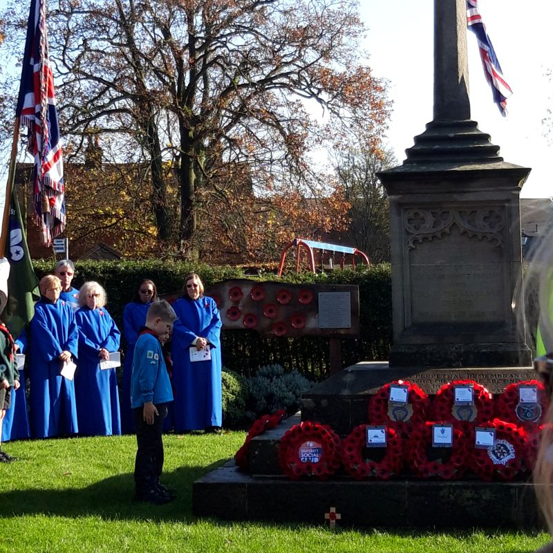Grayshott Beavers on Remembrance Sunday