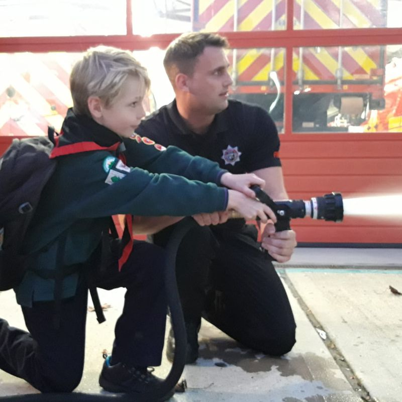 Grayshott Cubs visiting Guildford Fire Station